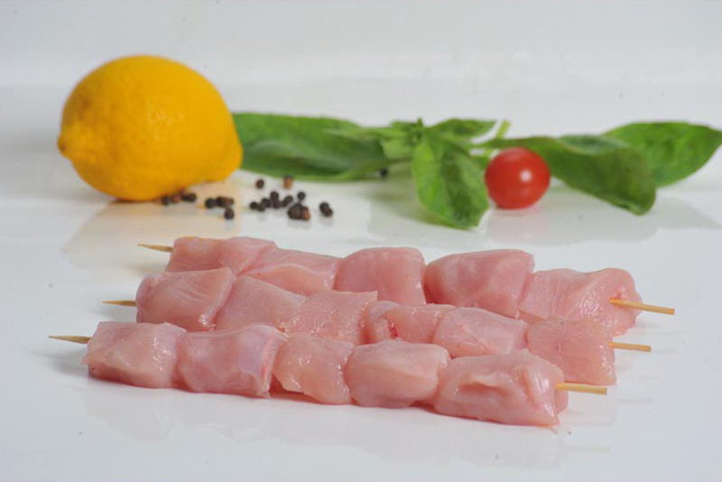 Chicken fillet kebabs frozen / chilled