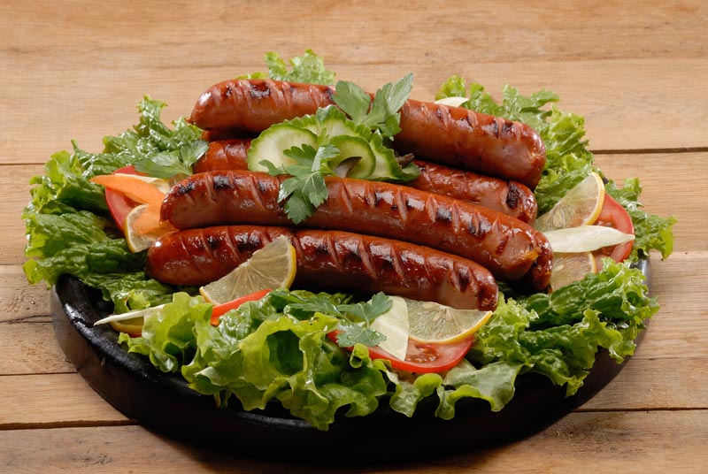 Grilled chicken sausage