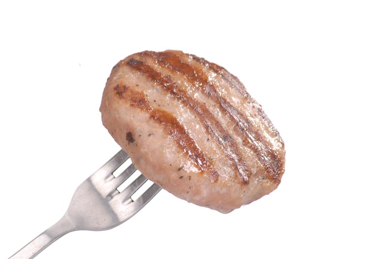 Grilled pork meatball