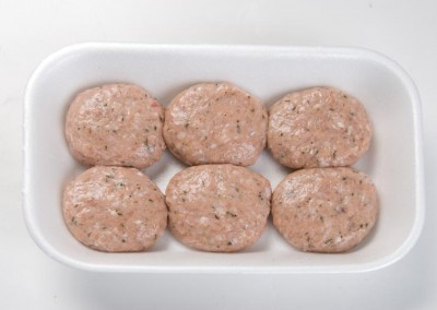 Frozen chicken meatballs