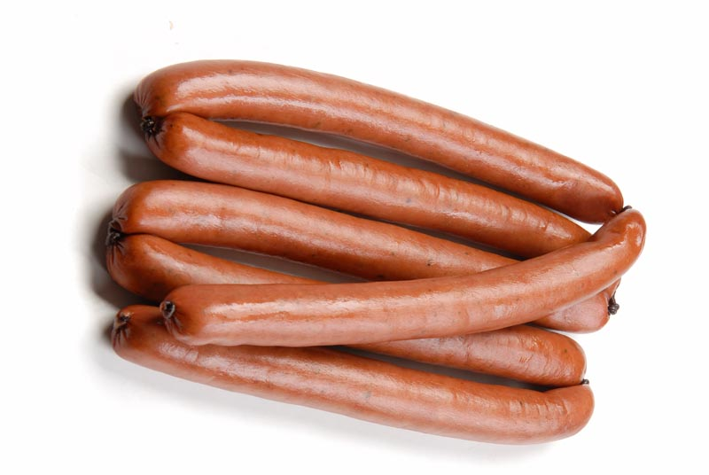 Boiled-and-smoked pork franks