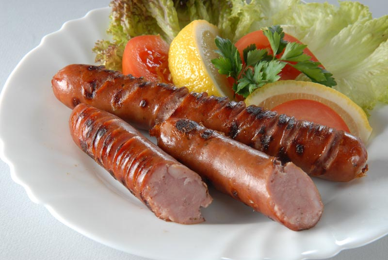 Grilled pork sausage